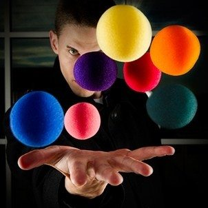 sponsbal 7 kleuren