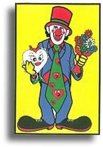 colorful clown trick